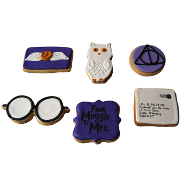 Custom Cookies -Harry Potter Themed